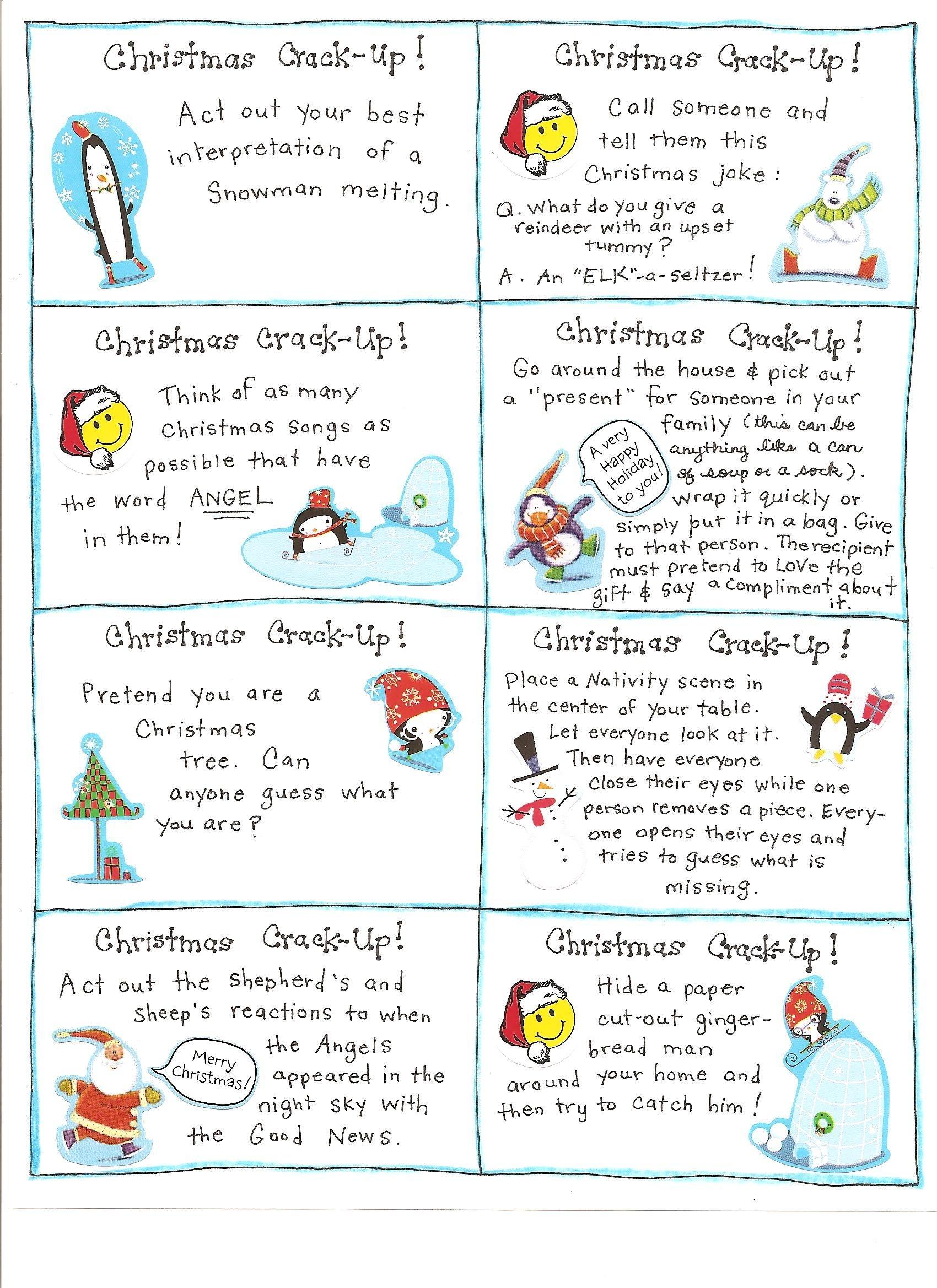 Christmas Fun Cards - Free Printables | Free Printable Christmas - Free Printable Christmas Activities