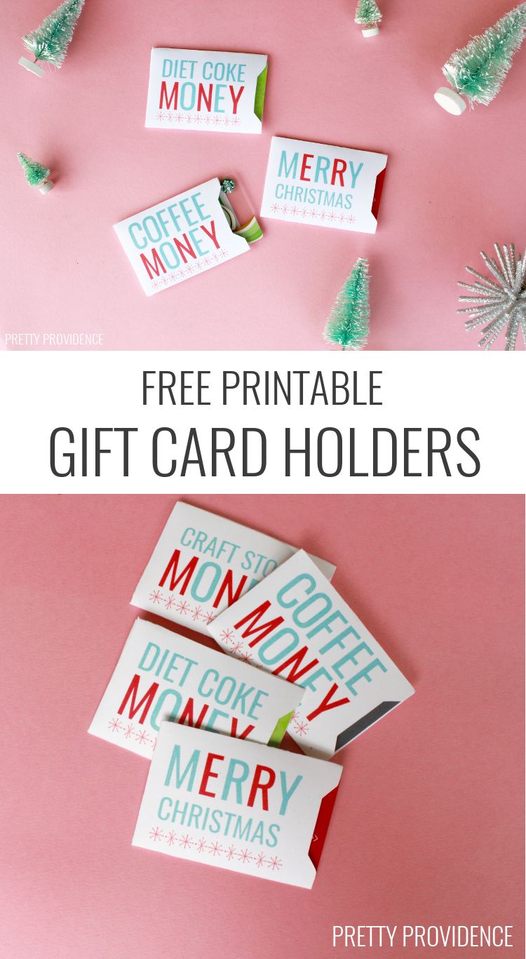 Christmas Gift Card Sleeves - Free Printable! | Holidays | Christmas - Free Printable Personal Cards