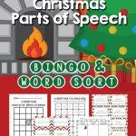 Christmas Parts Of Speech Activities | 3Rd Grade An Homeschool   Free Printable Parts Of Speech Bingo