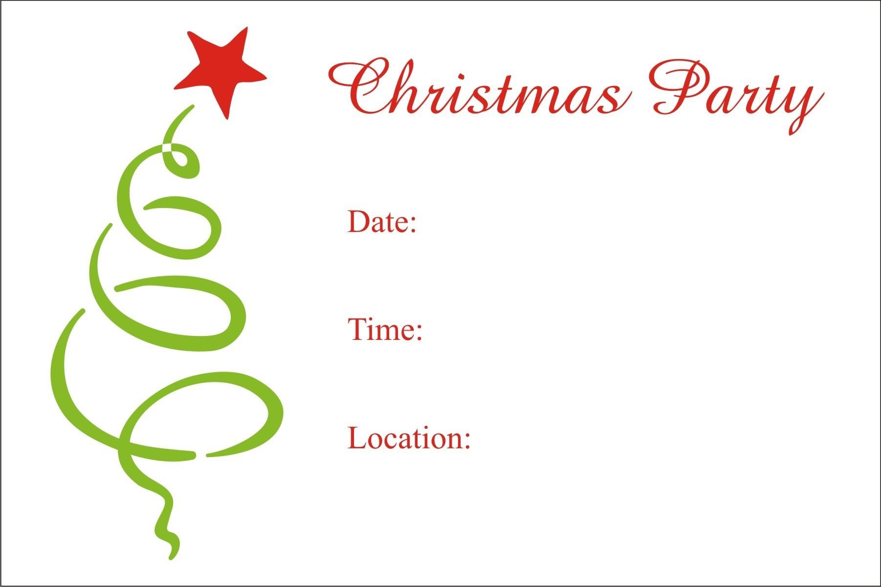 Christmas Party Free Printable Holiday Invitation Personalized Party - Holiday Invitations Free Printable