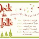 Christmas Party Invitation Template Ai • Invitation Template Ideas   Free Online Printable Christmas Party Invitations