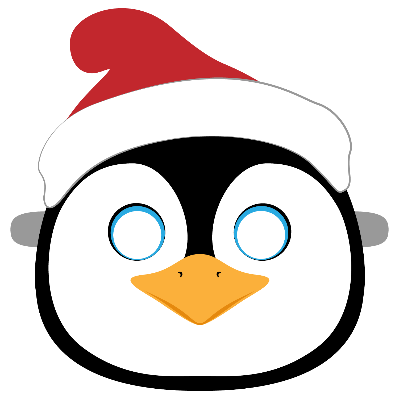 Christmas Penguin Mask Template | Free Printable Papercraft Templates - Free Printable Penguin Template