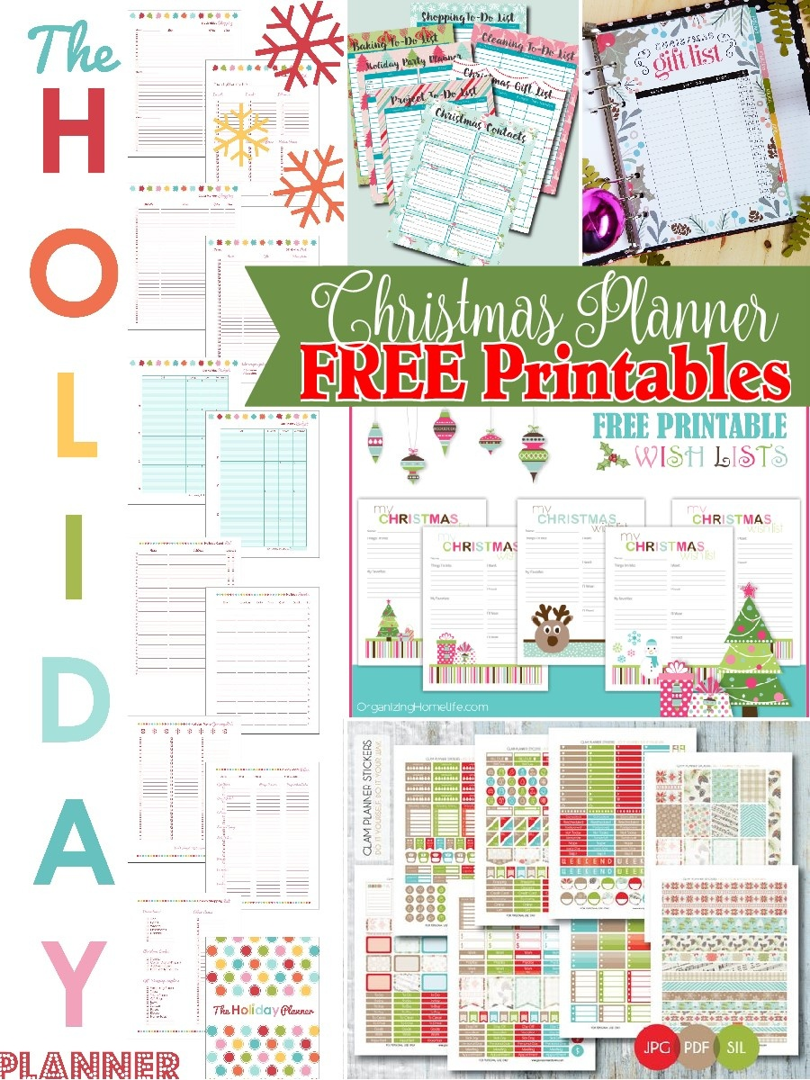 Christmas Planner Free Printables - The Scrap Shoppe - Free Printables Com