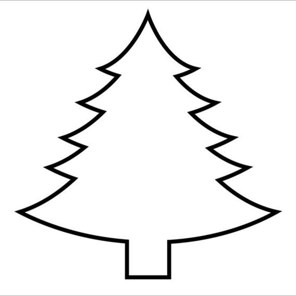 Christmas Tree Outline Printable Animal Clipart | House Clipart - Free Printable Christmas Tree Template