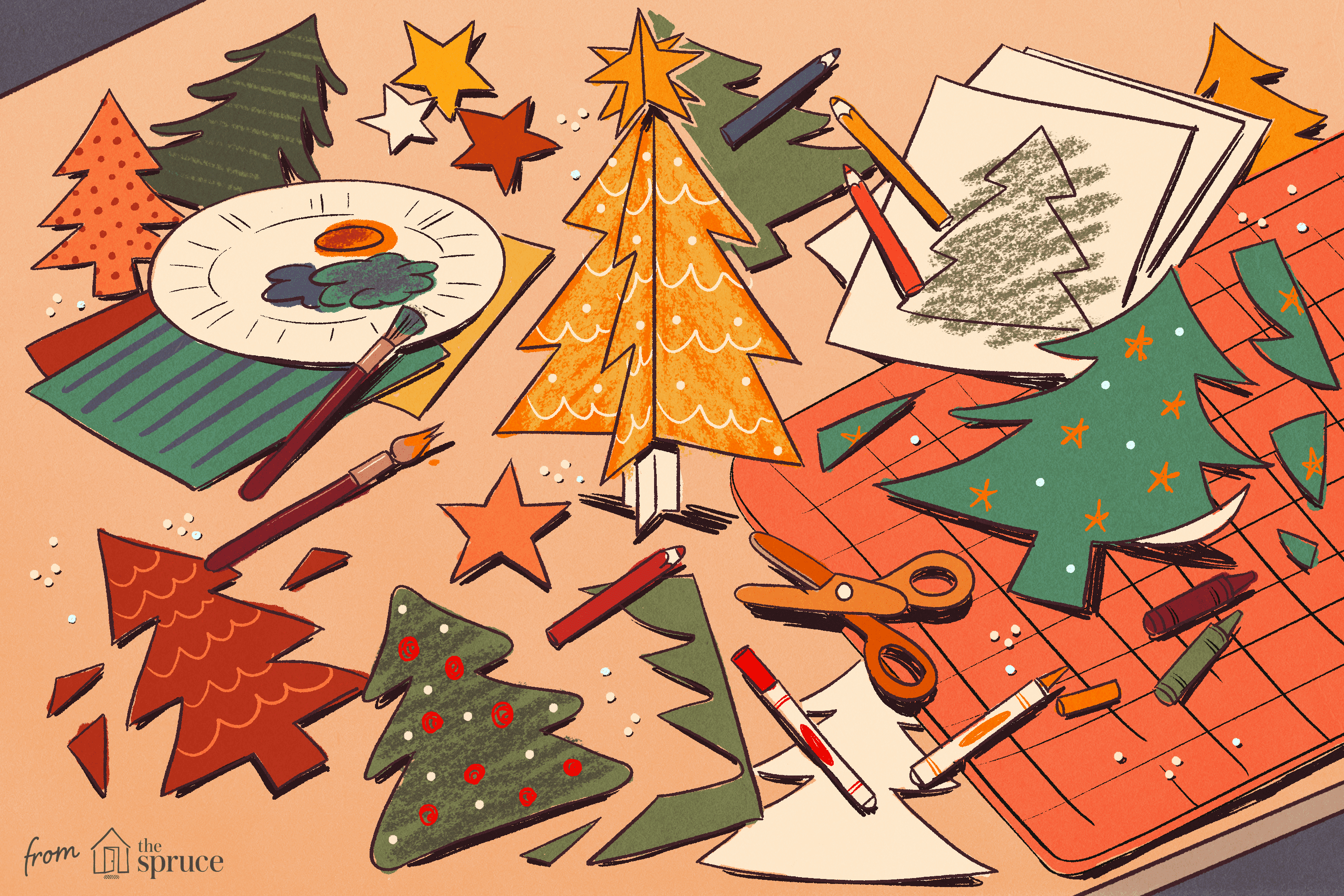Christmas Tree Templates In All Shapes And Sizes - Free Printable Christmas Cutouts