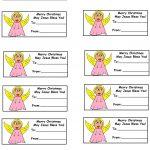 Church House Collection Blog: Christmas Gift Tags   Free Printable Angel Gift Tags