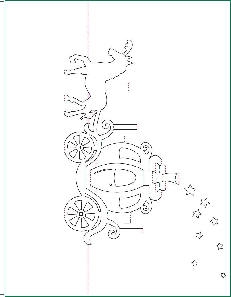 Cinderella Carriage- Origamic Architecture | Scribd | Cards | Pop Up - Kirigami Free Printable Patterns