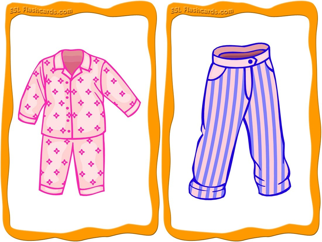 Clothes Flashcards - 32 Free Printable Flashcards - Free Printable Clothing Flashcards
