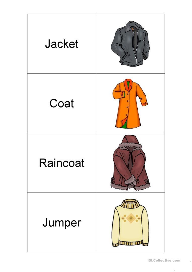 Clothes Flashcards Worksheet - Free Esl Printable Worksheets Made - Free Printable Clothing Flashcards