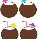 Coconut Drinks From Luau Printable Photo Booth Prop Set | Party   Hawaiian Photo Booth Props Printable Free