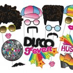 Collection Of Free Decretion Clipart Party Prop. Download On Ui Ex   Free Printable 70's Photo Booth Props