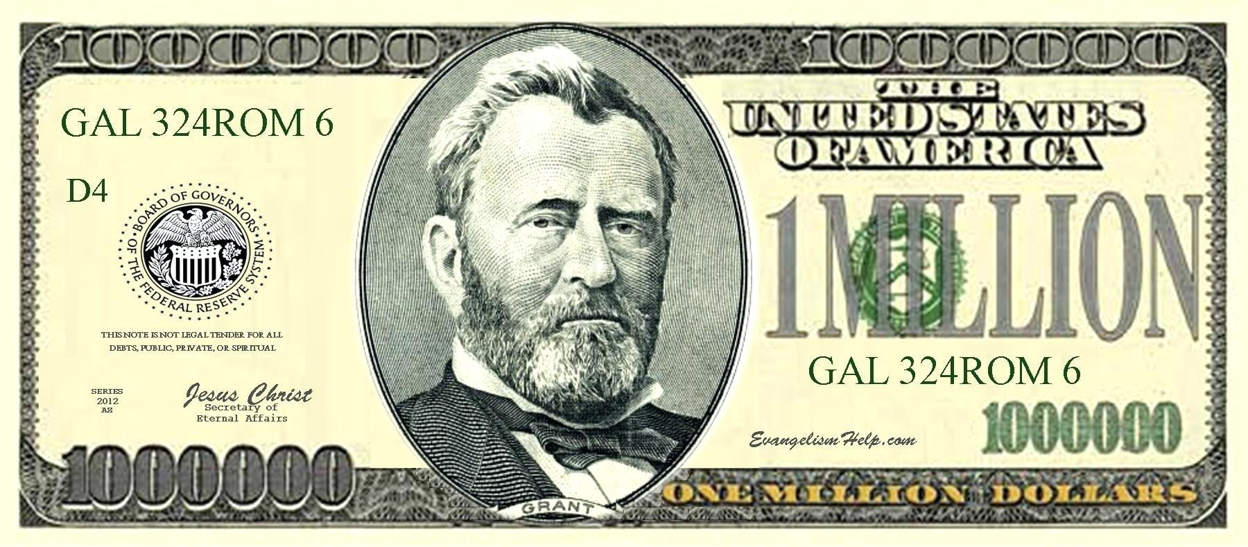 Collection Of Free Granted Clipart Million Dollar. Download On Ui Ex - Free Printable Million Dollar Bill