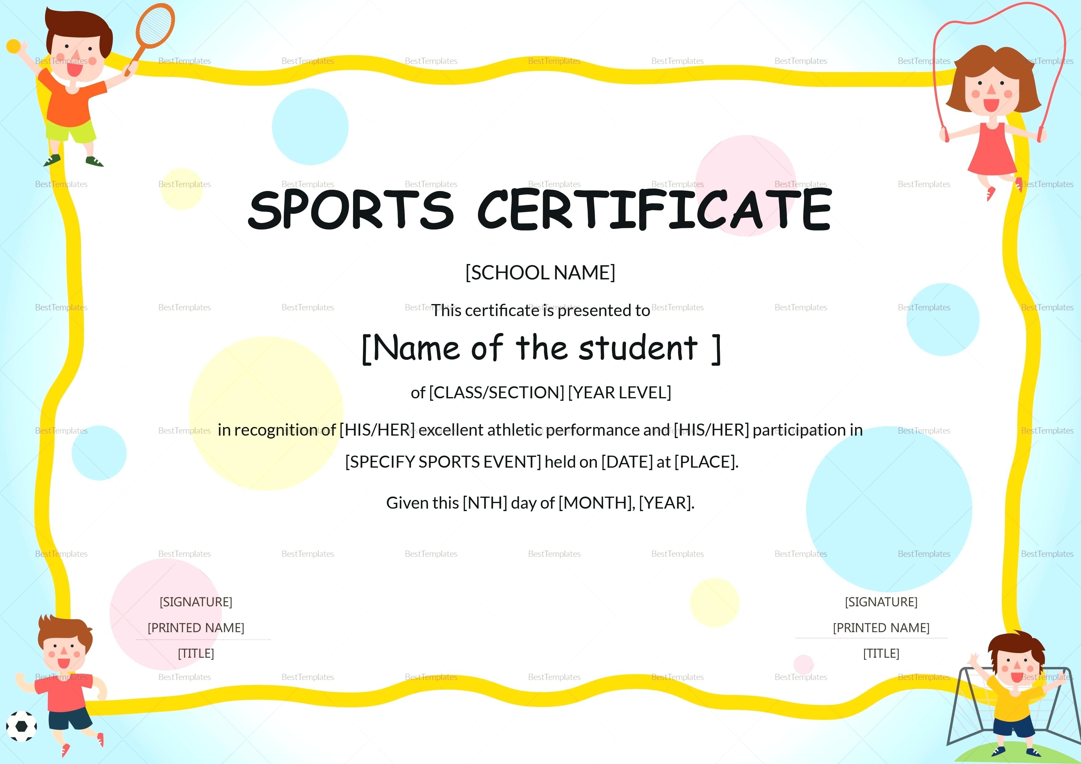 Collection Of Free Greit Clipart Sport Certificate. Download On Ui Ex - Free Printable Sports Day Certificates