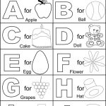 Coloring Book World ~ Alphabet Part I Coloring Printable Page For   Free Alphabet Coloring Printables