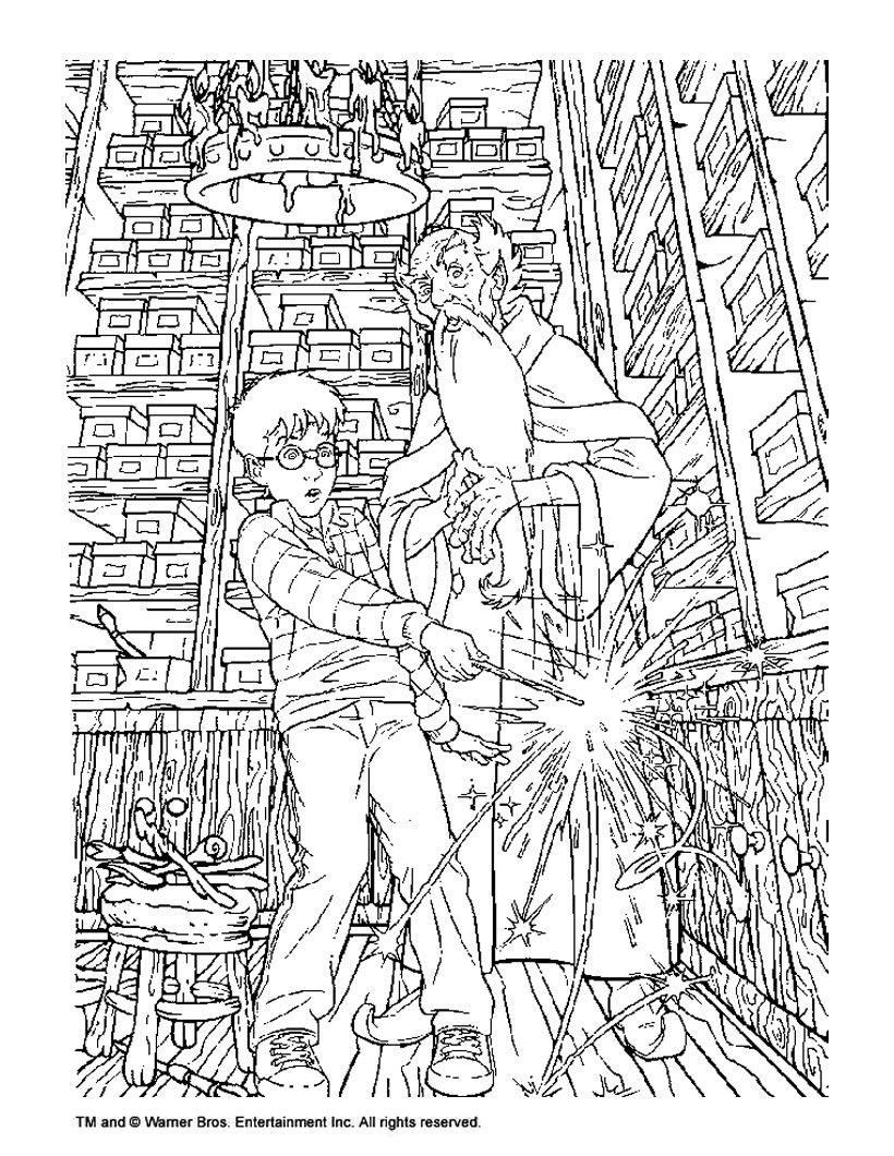 Coloring Book World ~ Harry Potter Coloring Game For Kids Pictures - Free Printable Harry Potter Coloring Pages