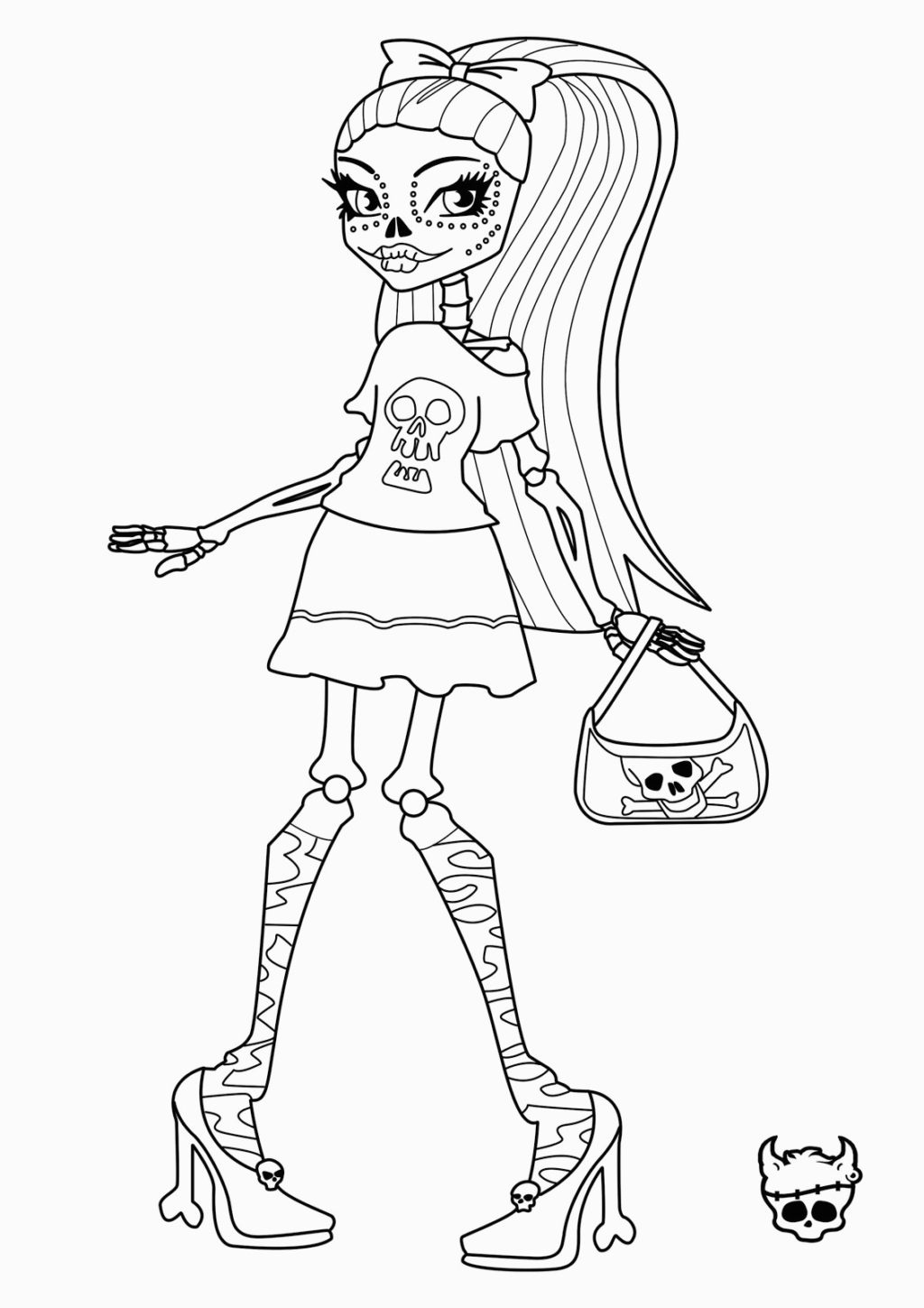Coloring Book World ~ Splendi Monster High Coloring Pages Image - Monster High Free Printable Pictures