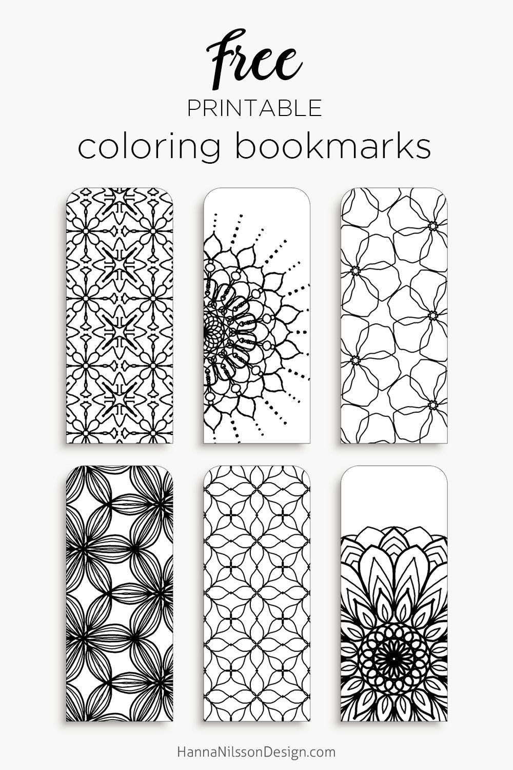 Coloring Bookmarks – Print, Color And Read   Creatief   Kleurplaten - Free Printable Book Marks
