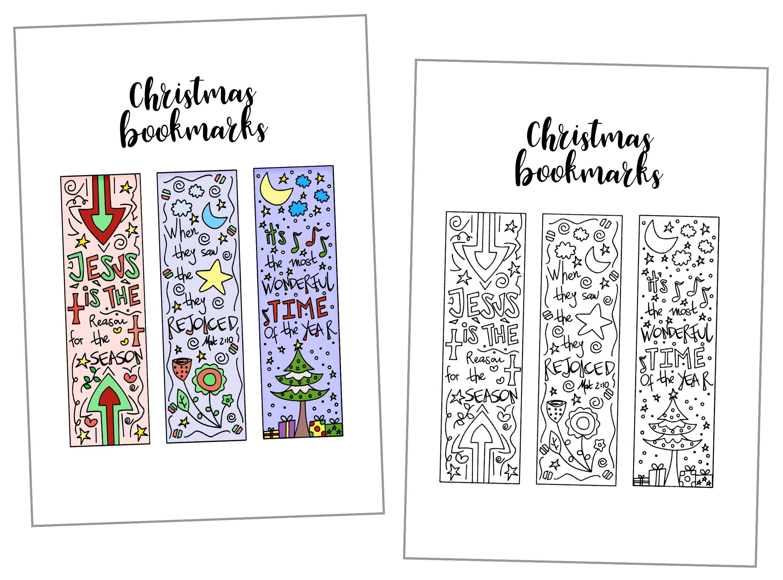 Coloring Christmas Bookmarks Free Printable - Free Printable Book Marks
