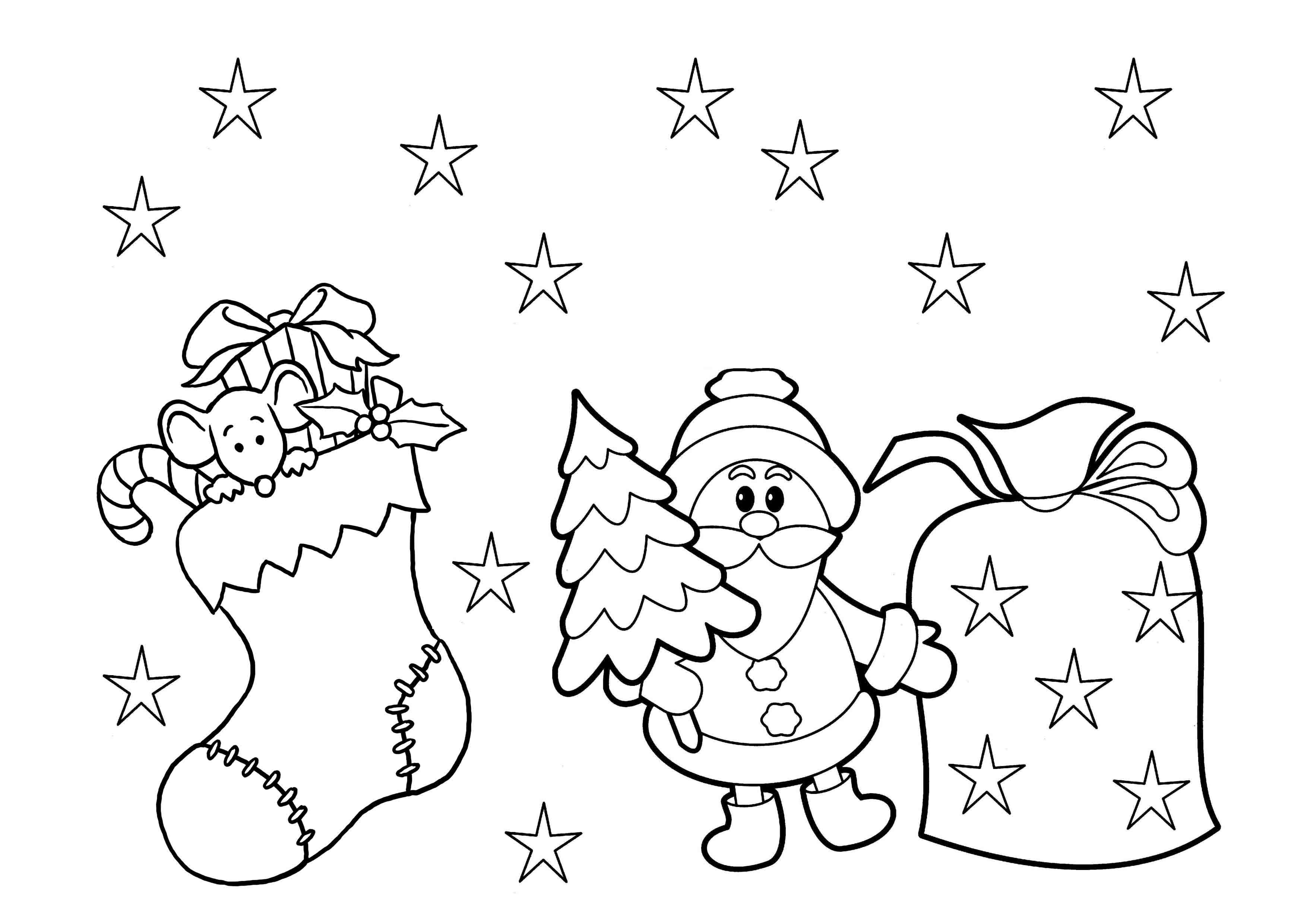 Coloring ~ Christmas Stocking To Colorree Printable Coloring Pages - Christmas Pictures To Color Free Printable