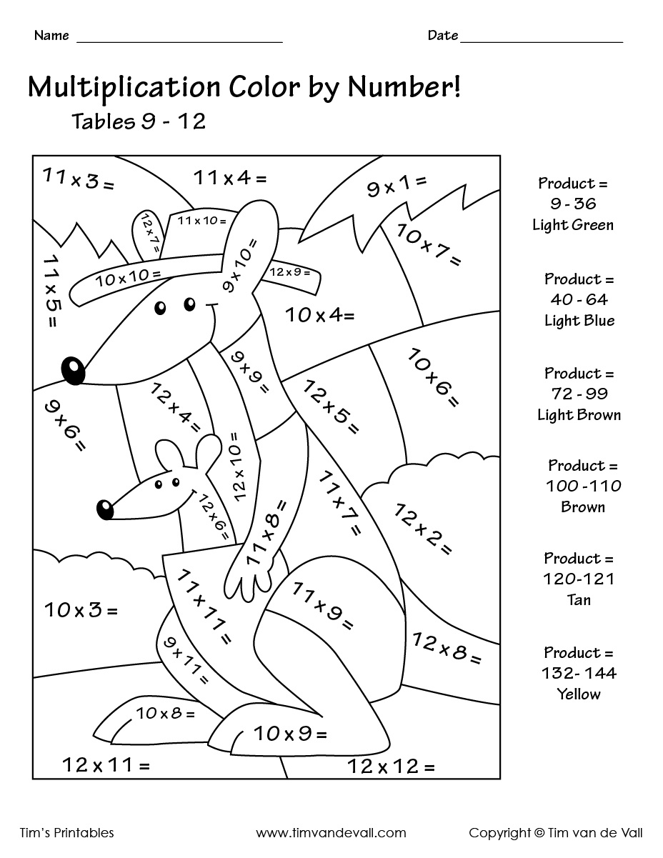 Coloring ~ Coloring Pages Color Number Printableg C0Lor Math 3Rd - Free Printable Multiplication Color By Number