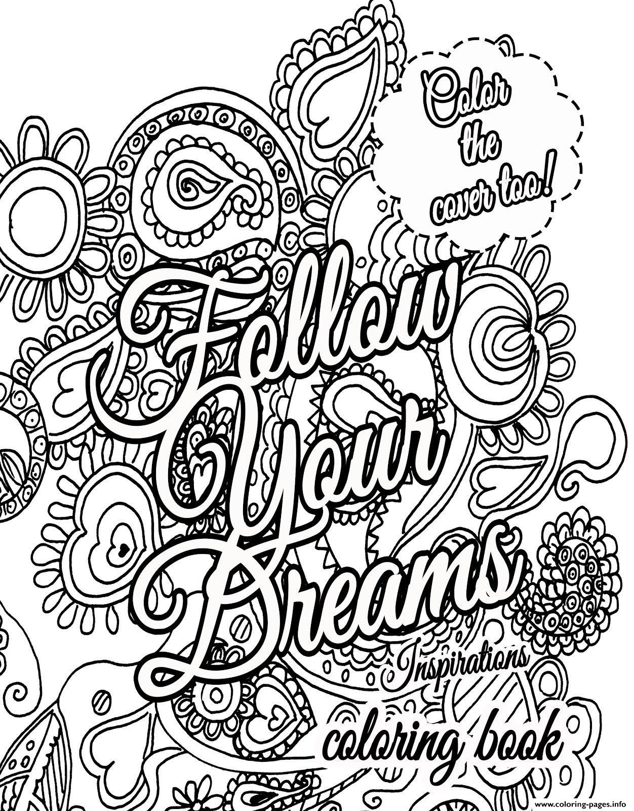Coloring ~ Dr Seuss Quoteg Pages Inspirational Printable Free To - Free Printable Quote Coloring Pages For Adults