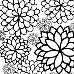 Coloring ~ Flower Adult Coloring Pages Bursting Blossoms Page Free   Free Printable Flower Coloring Pages For Adults