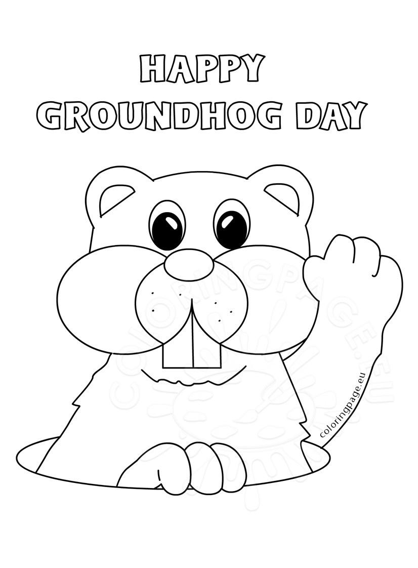Coloring ~ Groundhog Coloring Page Worksheets Day Activities Pages - Groundhog Day Coloring Pages Free Printable