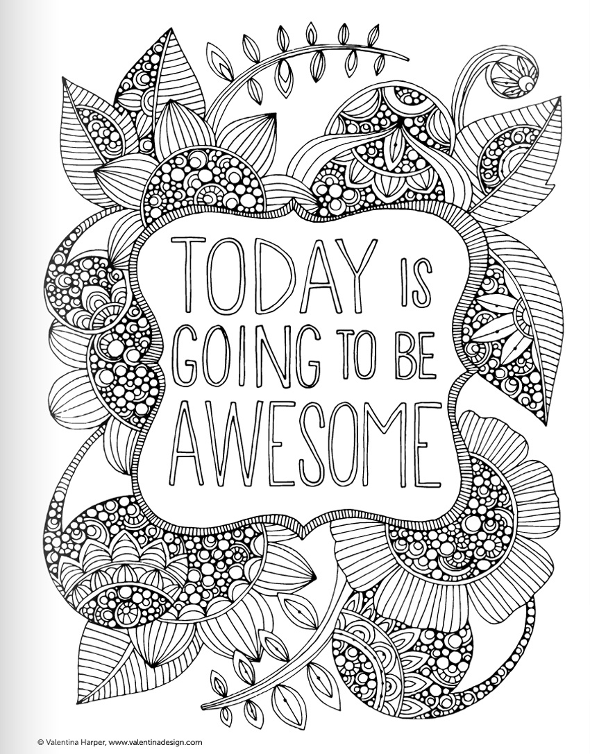 Coloring Ideas : Free Motivational Coloring Pages Ideas Page - Free Printable Quotes Coloring Pages