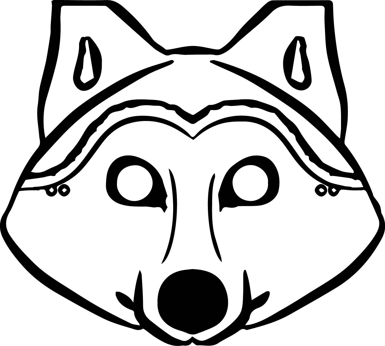 Coloring Ideas : Phenomenal Free Wolf Coloring Pages Printable - Free Printable Wolf Face Mask