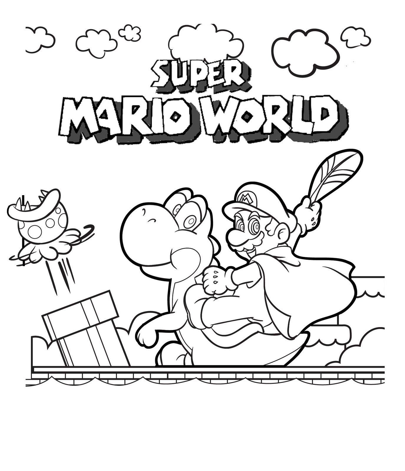 Coloring Ideas : Superario Bros Coloring Printables Free Download - Free Mario Printables