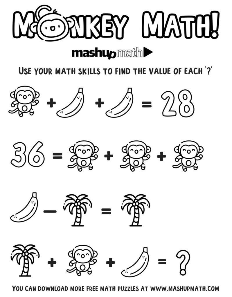 Coloring ~ Monkeymathcoloringg Splendi Free Math Worksheets Image - Free Printable Math Coloring Worksheets For 2Nd Grade