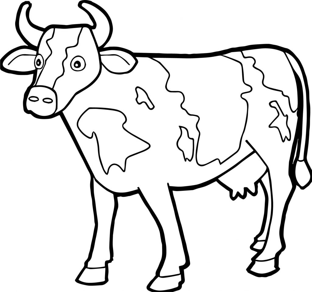 Coloring Page ~ Coloring For Kids Free Printable Pages Cow Lovely - Coloring Pages Of Cows Free Printable