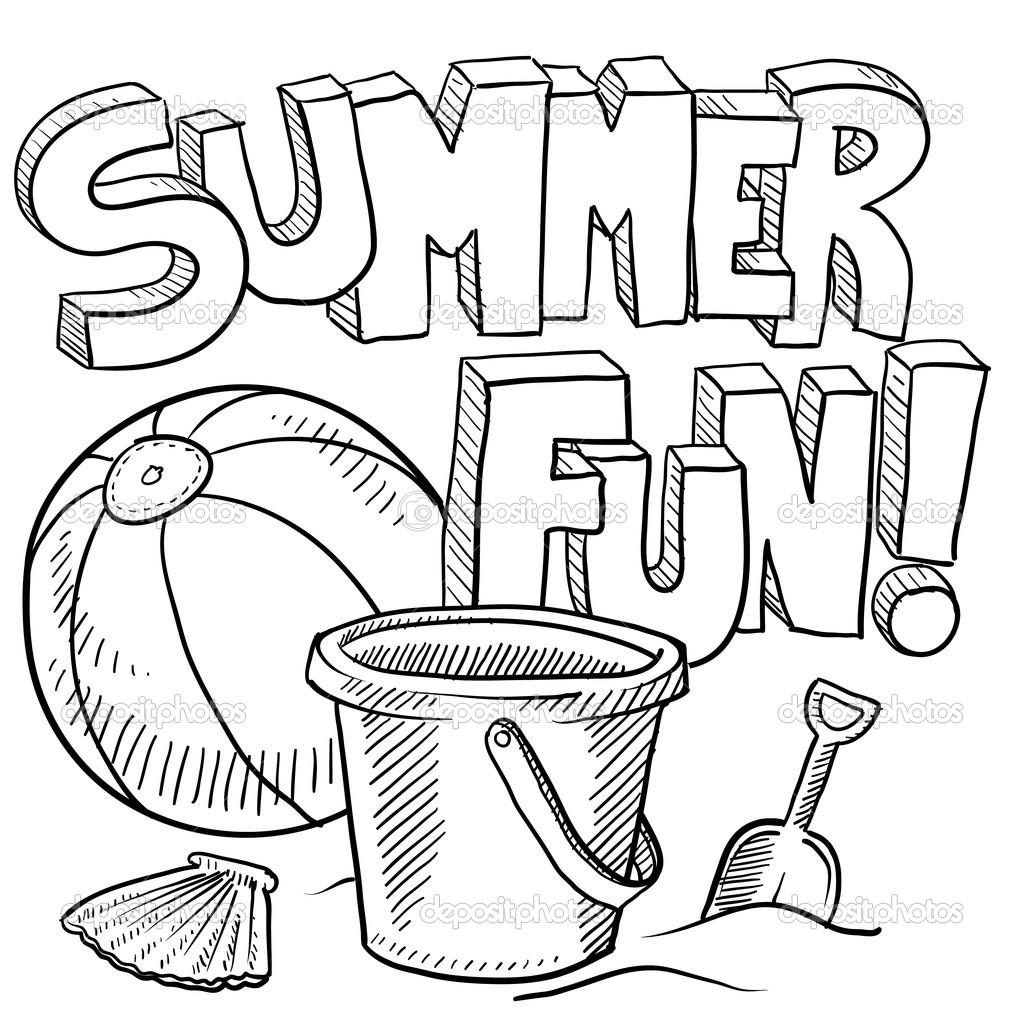 Coloring Page ~ Quality Free Printable Summer Coloring Pages - Free Printable Summer Coloring Pages For Adults