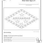 Coloring Page State Flag Arkansas Printable Worksheet – Surviving   Free Printable Arkansas History Worksheets