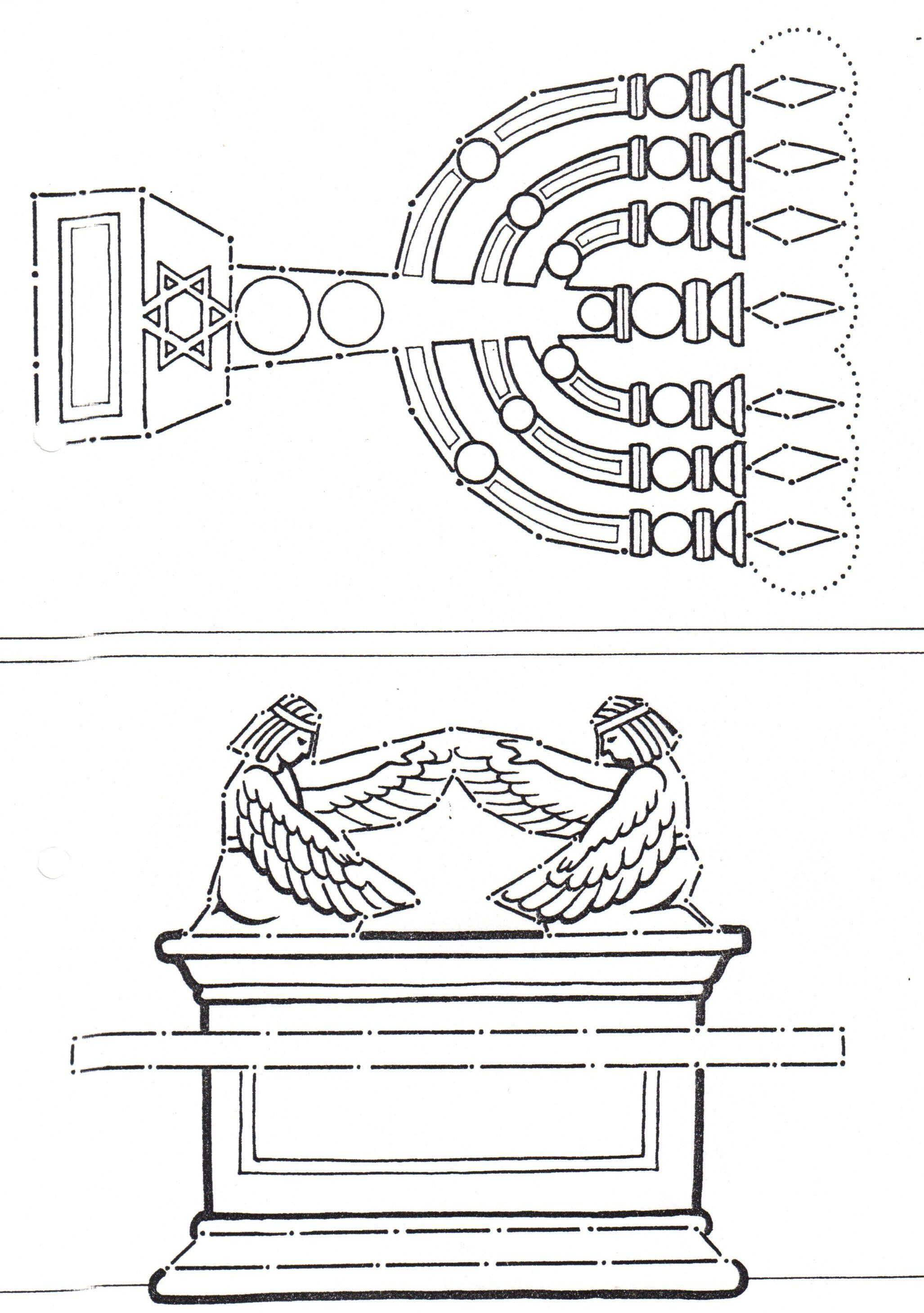 Coloring Pages Ark Of The Covenant And Lampstand From Tabernacle - Free Printable Pictures Of The Tabernacle