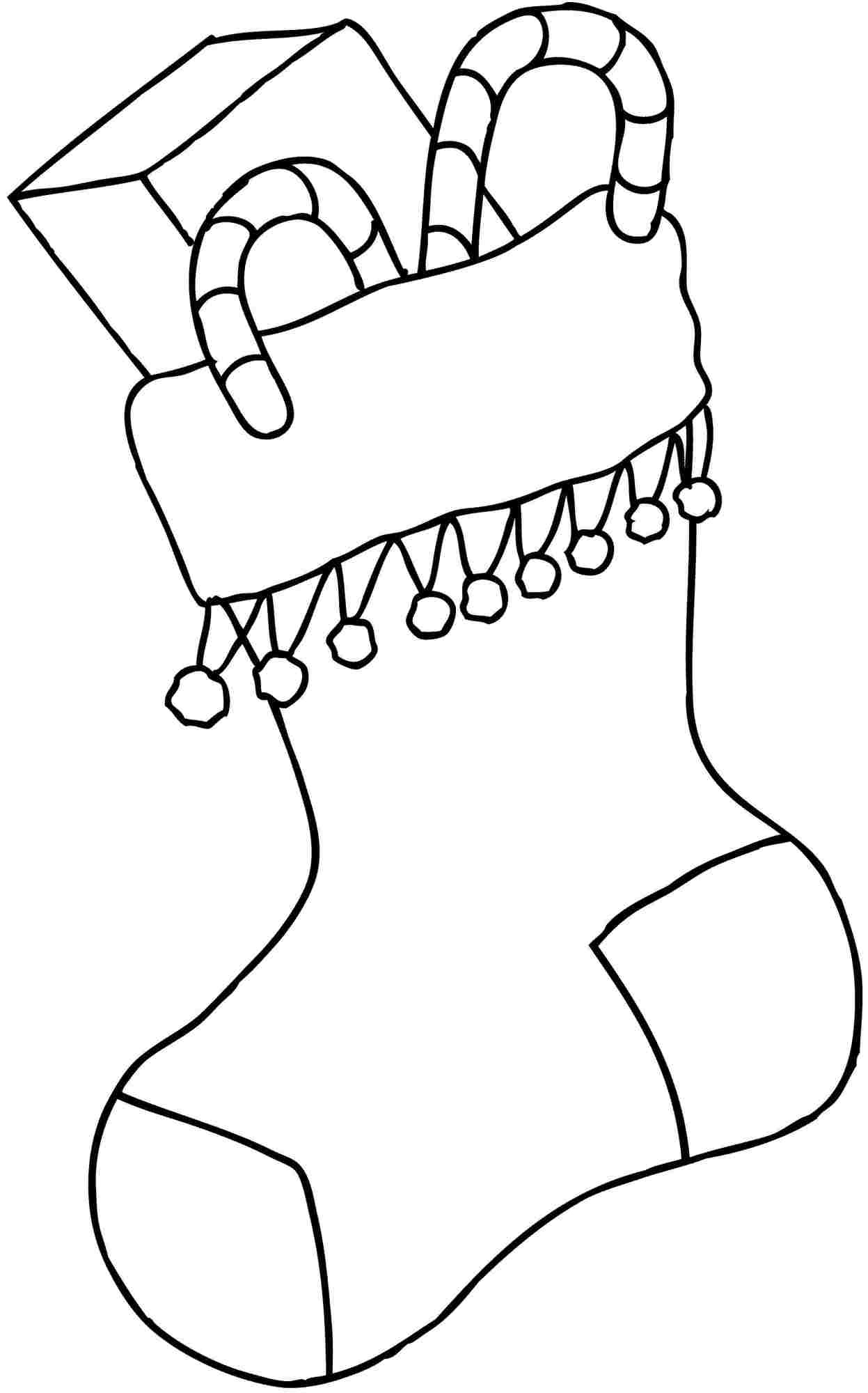 Coloring Pages: Christmas Stocking Pictures To Print Printable - Christmas Stocking Template Printable Free