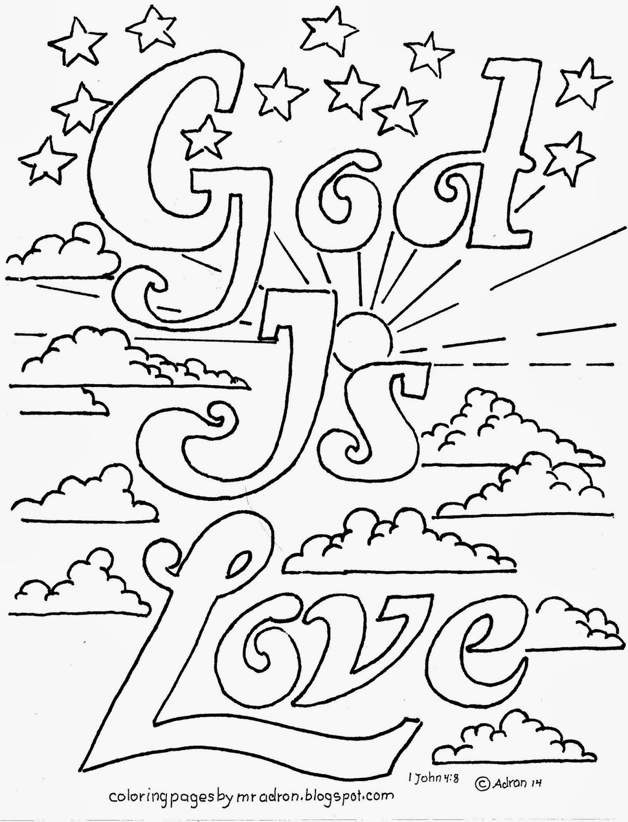 Coloring Pages For Kidsmr. Adron: God Is Love Printable, Free - Free Printable Sunday School Coloring Pages