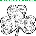 Coloring ~ Shamrock Coloring Pages Hellokids Com Saint Patrick Page   Free Catholic Coloring Pages Printables