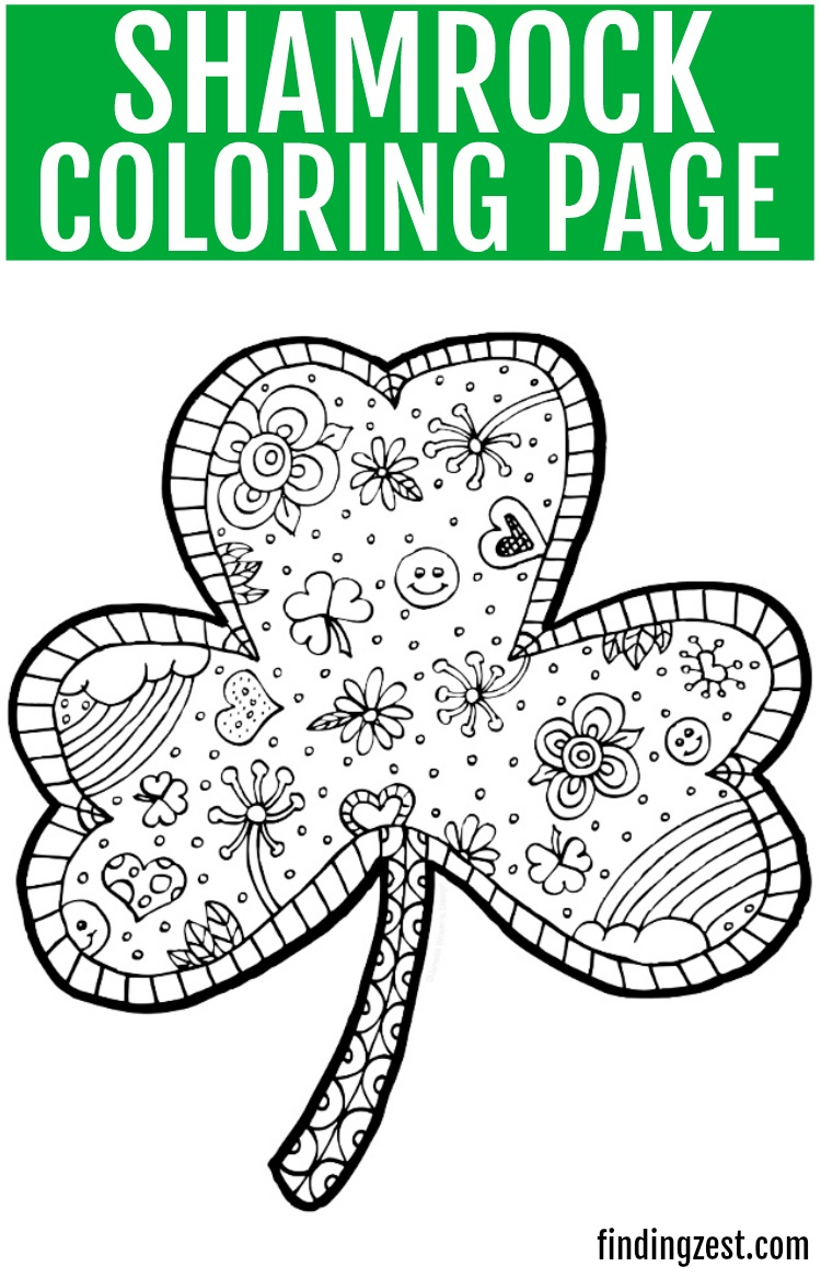 Coloring ~ Shamrock Coloring Pages Hellokids Com Saint Patrick Page - Free Catholic Coloring Pages Printables