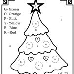 Colorletter Christmas Tree Free Printable Worksheet | Activities   Christmas Pictures To Color Free Printable