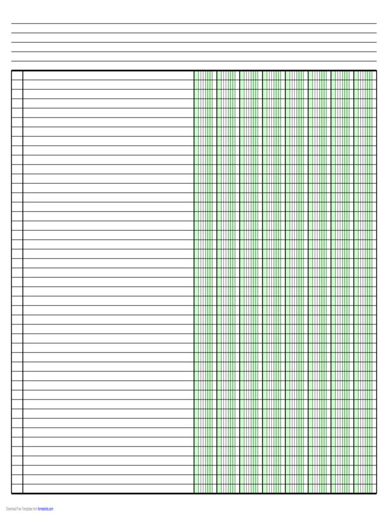 Columnar Pad Paper - 63 Free Templates In Pdf, Word, Excel Download - Free Printable Column Paper