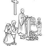 Communion Coloring Printables | Firstcommunion Coloring Pages   Free   Free Catholic Coloring Pages Printables