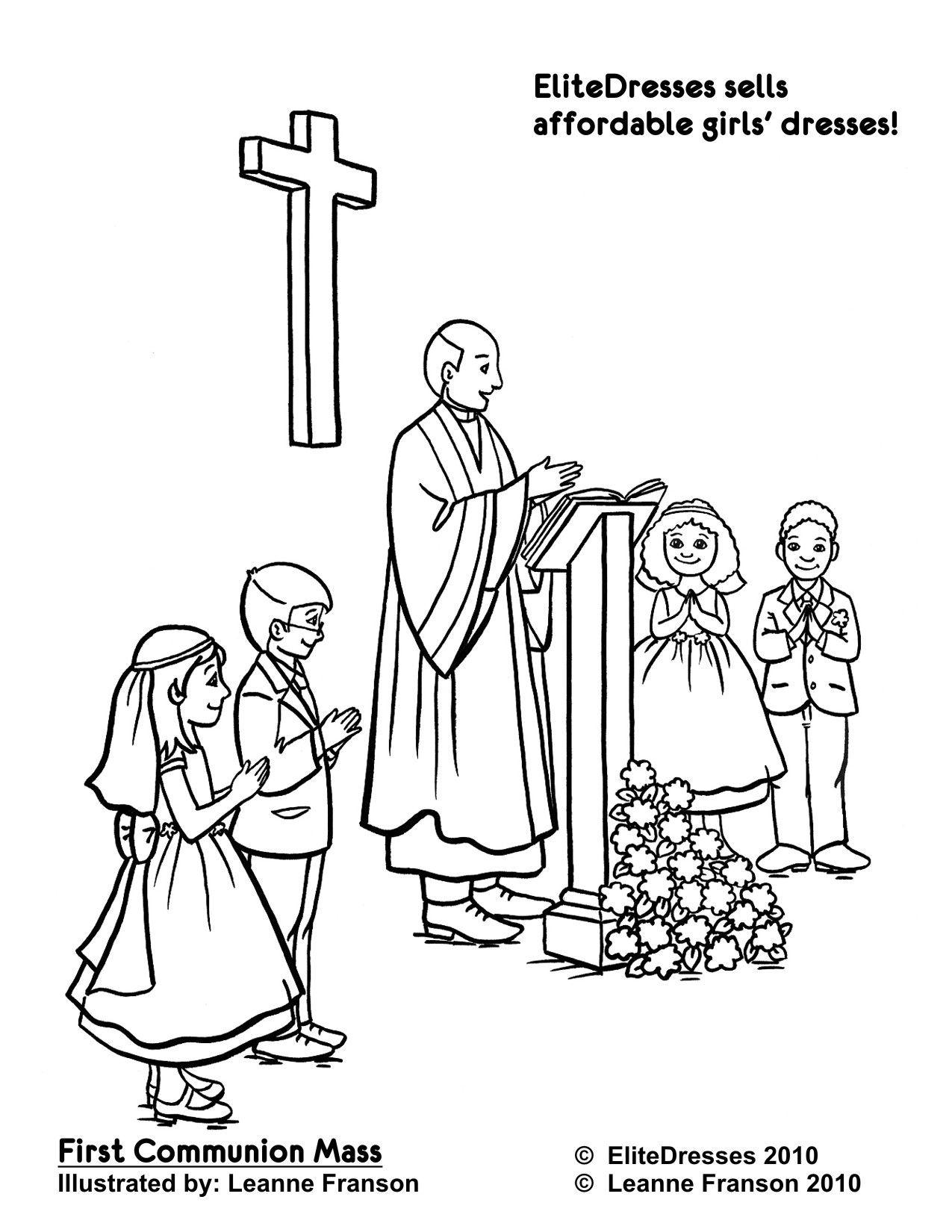 Communion Coloring Printables | Firstcommunion Coloring Pages - Free - Free Catholic Coloring Pages Printables