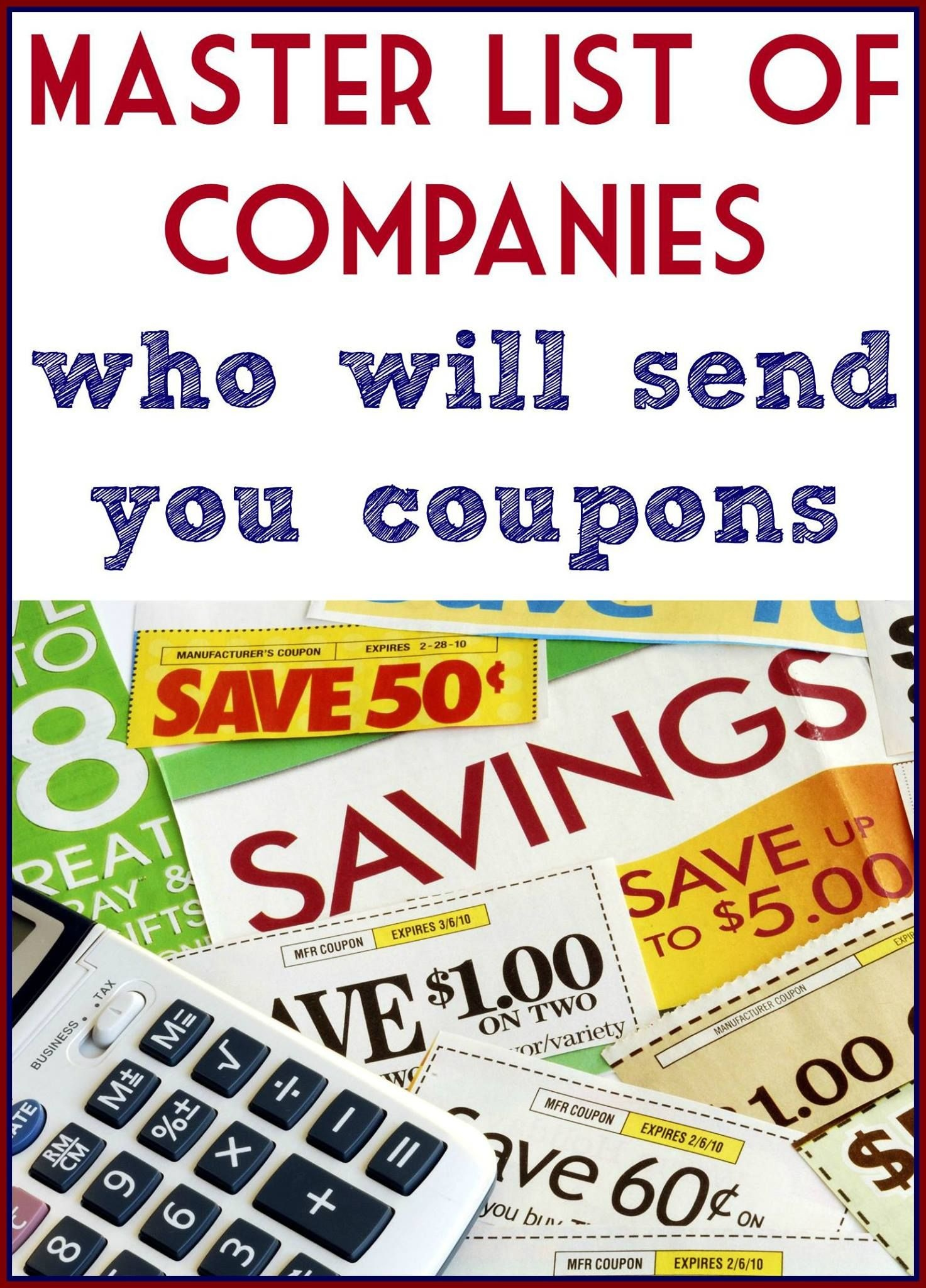Companies That Will Mail You Coupons | Companies | Couponing 101 - Free Printable Coupon Websites