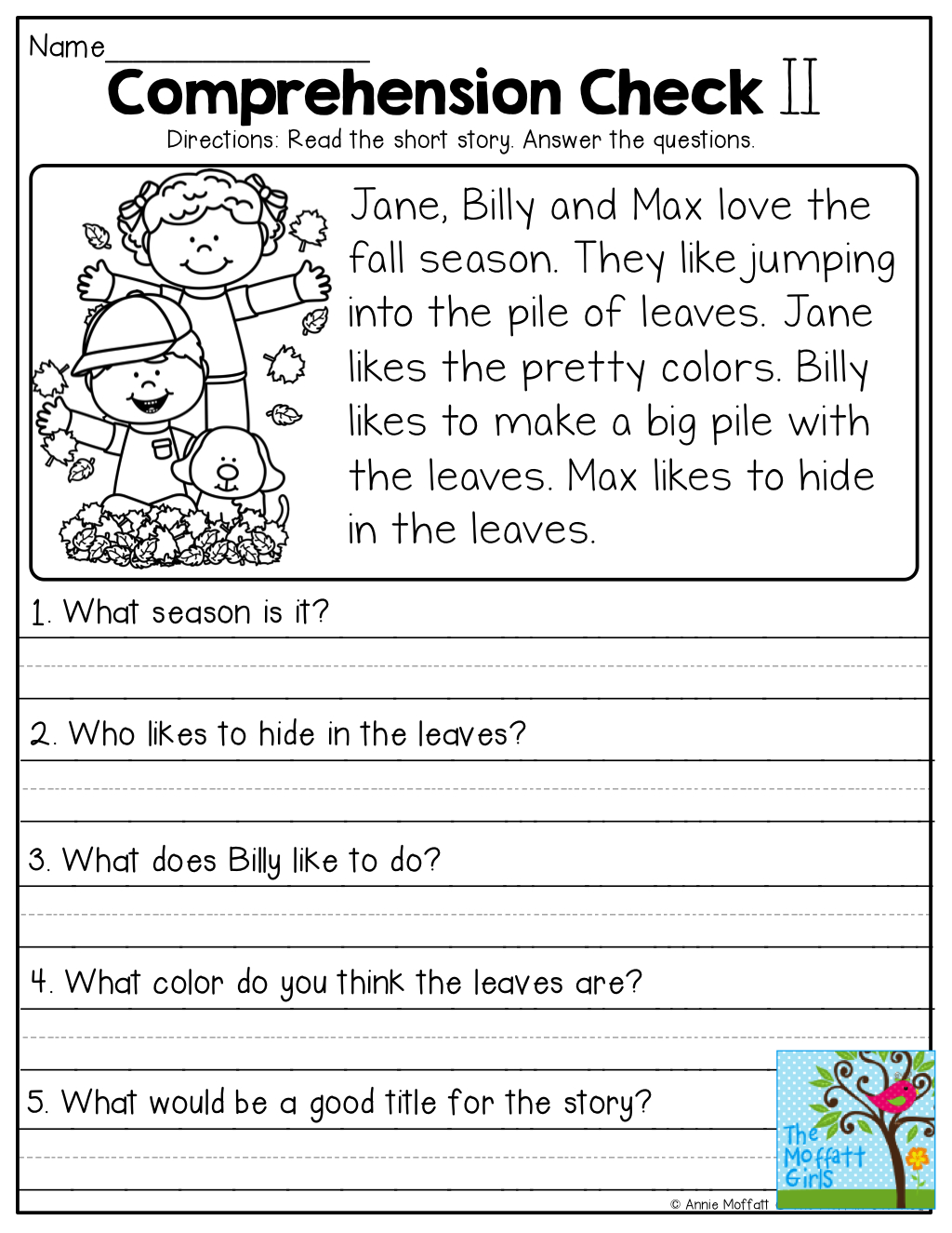 Comprehension Checks And So Many More Useful Printables!   Reading - Free Printable Short Stories With Comprehension Questions