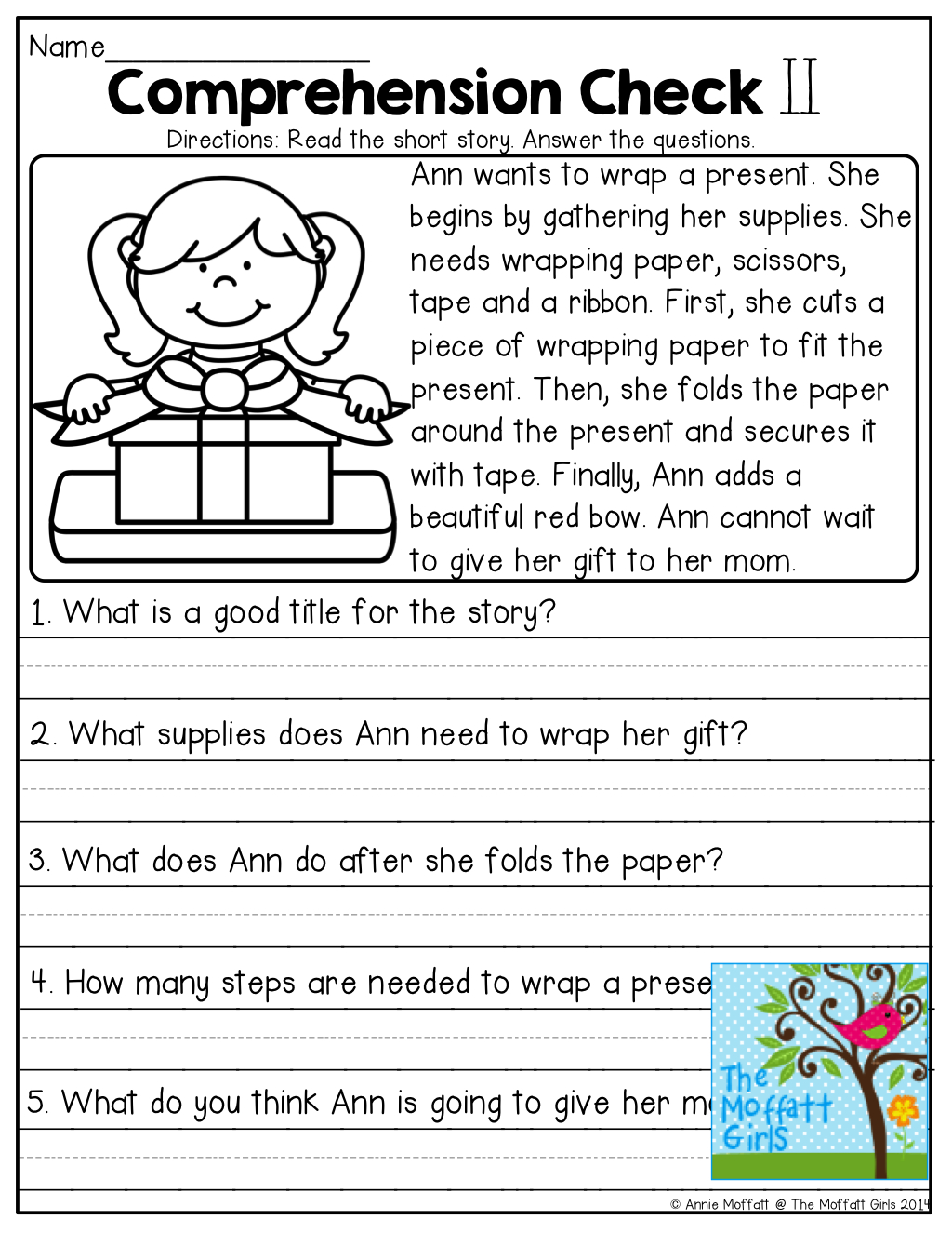Comprehension Checks And Tons Of Other Great Printables!   Learn It - Free Printable Short Stories With Comprehension Questions