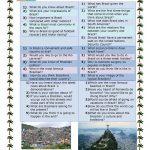 Conversation Questions About Brazil Worksheet   Free Esl Printable   Brazil Worksheets Free Printables