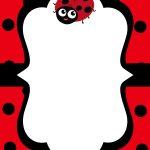 Cool Free Printable Ladybug Baby Shower Invitations Templates   Free Printable Ladybug Invitations