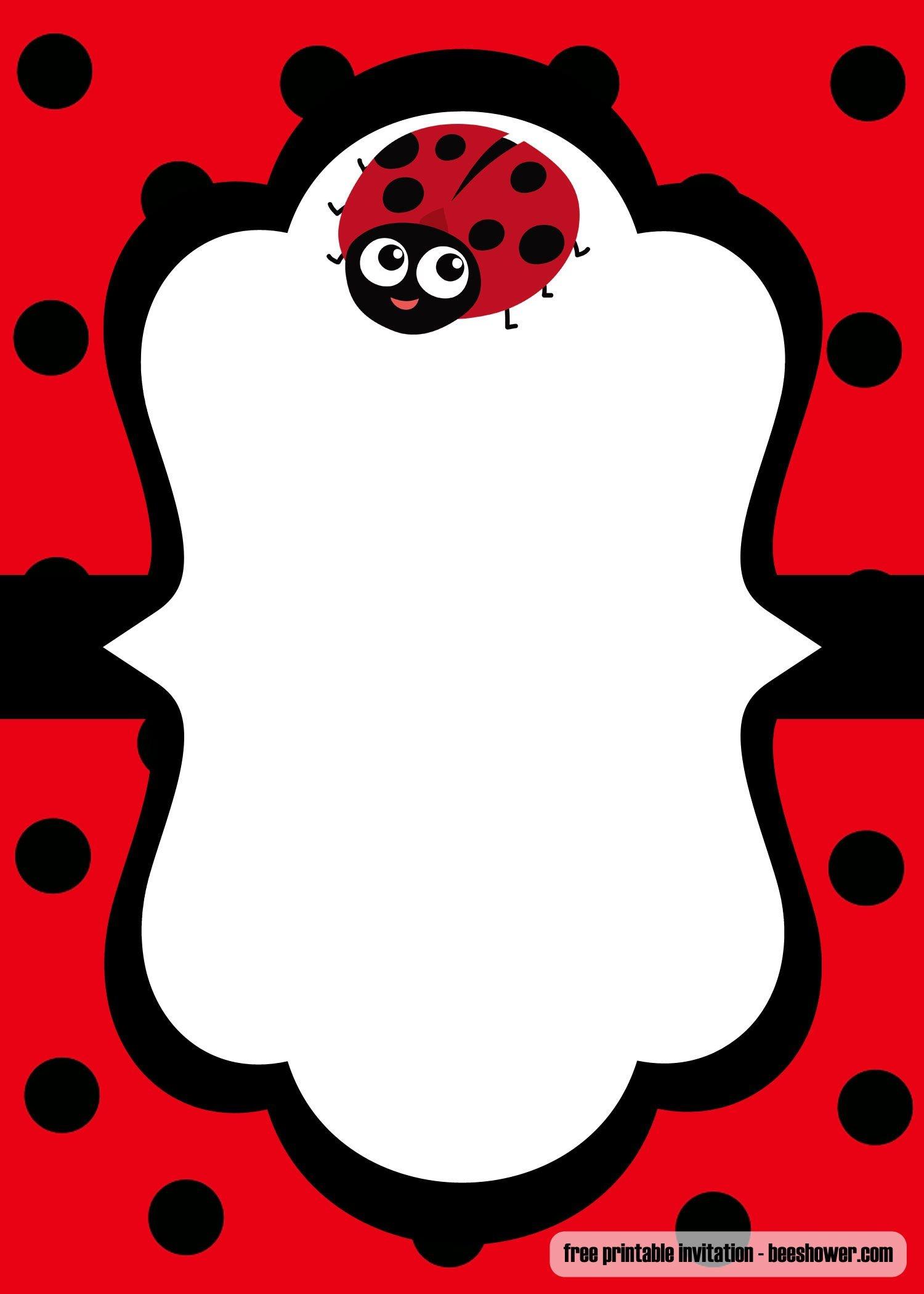 Cool Free Printable Ladybug Baby Shower Invitations Templates - Free Printable Ladybug Invitations