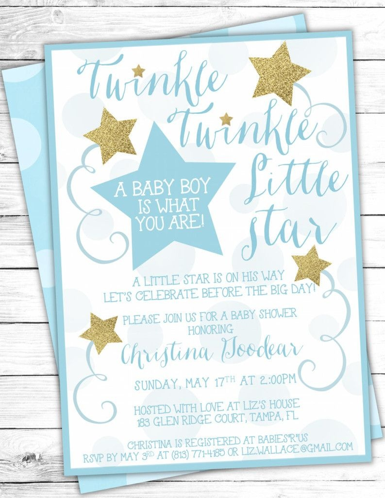 image relating to Free Printable Twinkle Twinkle Little Star Baby Shower Invitations named Free of charge Printable Twinkle Twinkle Tiny Star Boy or girl Shower